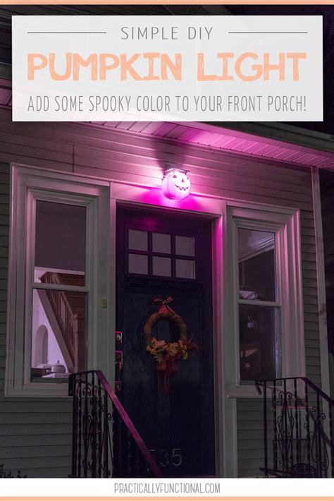 diy pumpkin porch light  halloween