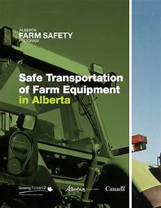 Safe Transportation Of Farm Equipment Manual Front Cover