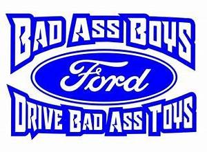 bad ass boys ford 3 decal sticker With kitchen cabinets lowes with ford truck window sticker