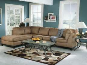 Brown Livingroom Miscellaneous Brown And Blue Living Room Interior Decoration And Home Design