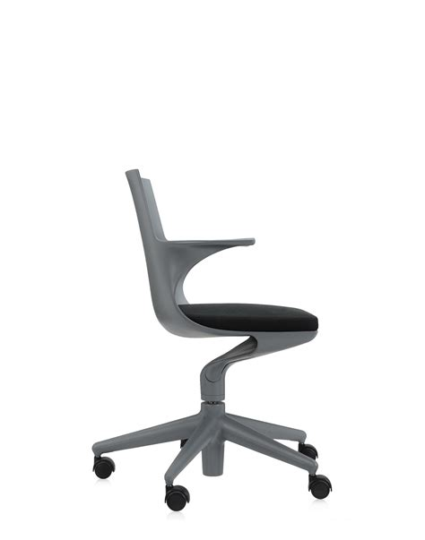 kartell office chair spoon chair grey black office