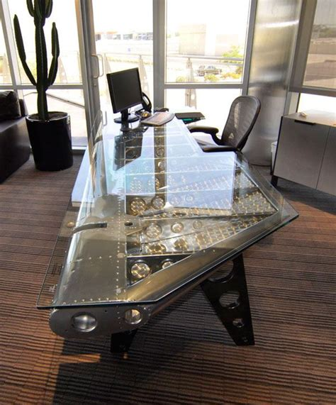 cool desk designs   home industrial chic