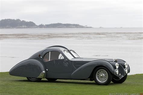 The bugatti type 57sc atlantic is a 2 door coupé style car designed by jean bugatti with a front positioned engine powering the rear wheels. 1936 Bugatti Type 57SC Atlantic Gallery | | SuperCars.net