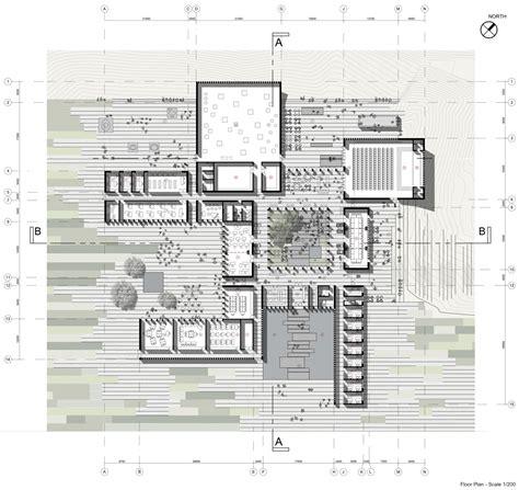 architecture floor plans unesco reveals winning scheme for the bamiyan cultural