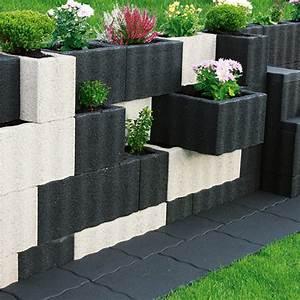 Säulentisch 80 X 80 : pflanzstein rasterstein anthrazit 60 x 40 x 25 cm beton bauhaus ~ Bigdaddyawards.com Haus und Dekorationen