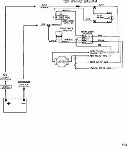 Wire Diagram Model 752   12 Volt