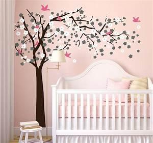 sticker arbre fleuri et oiseaux tenstickers With chambre bébé design avec envoi fleurs domicile