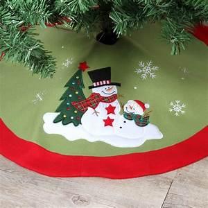 Tapis De Sapin De Noel : tapis de sapin rond teddy bonhomme de neige accessoires pour sapin eminza ~ Teatrodelosmanantiales.com Idées de Décoration