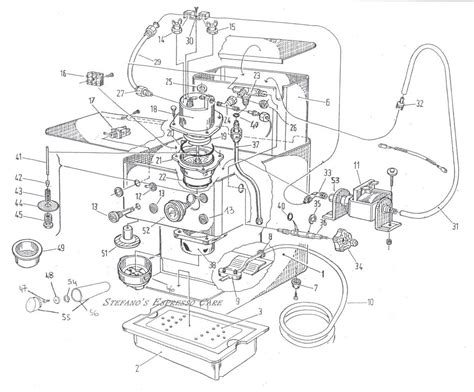Espresso Maker Schematic by Espresso Machine Diagrams Schematics
