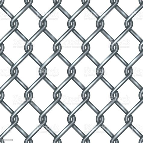 A fence made of strong wire net 2. Chain Link Fence Seamless Pattern Stock Illustration ...
