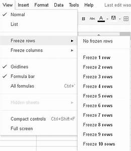 how to create a static fixed header row in google docs With google docs add header