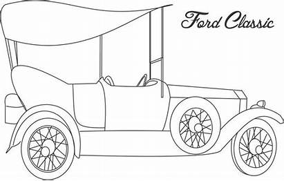Coloring Cars Truck Printable Classic Trucks Ford