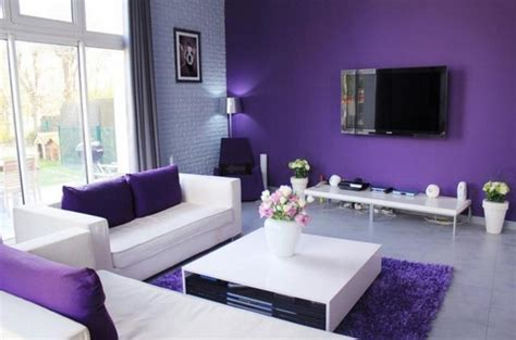 20 Dazzling Purple Living Room Designs