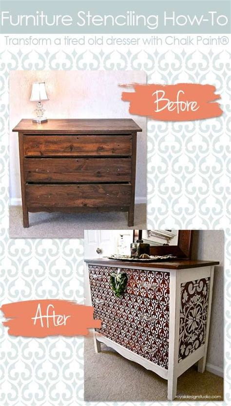 decorative stencils for furniture how to stencil wood furniture with chalk paint 174 decorative paint chalk paint stenciling and