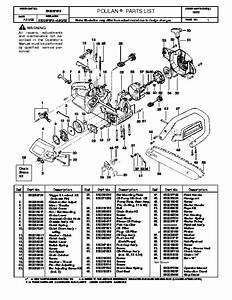 Poulan 1950 Chainsaw Parts List Manual  2000