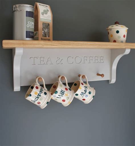 Cabinet Mug Rack by Tea And Coffee Shelf With Mug Rack By Chatsworth Cabinets