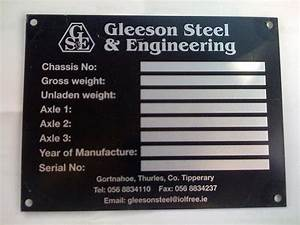 CE Data Plates and Serial Plates Co Tyrone - True Colours