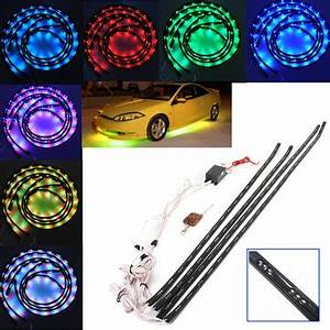 7 Color LED Under Car Glow Underbody Remote System Neon