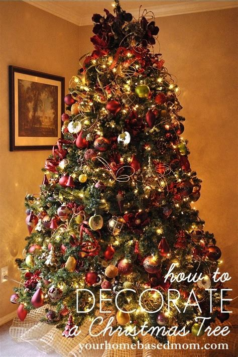 how to decorate a christmas tree tutorial
