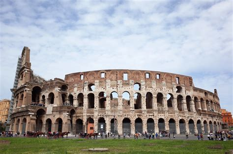 Free Colosseum In Rome by Frontal View Of The Colosseum In Rome Italy Image Free