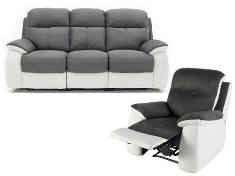ensemble de canapé ensemble canapé fauteuil de relaxation white conforama