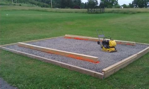 tub foundation gravel shed skid leveling on gravel doityourself