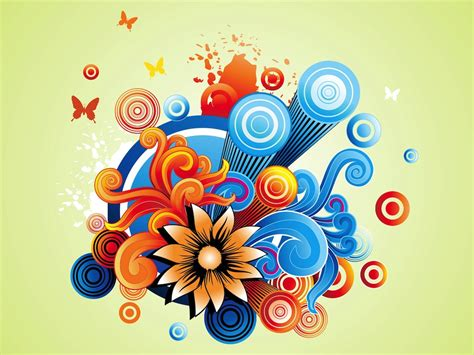 Colorful Flowers Graphics Vector Art & Graphics