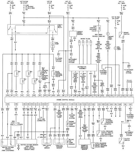 Stereo Fuse Box 1995 Civic Sedan by 1994 Honda Civic Light Wiring Diagram Wiring Library