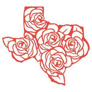 texas rose vinyl texas tattoos silhouette design