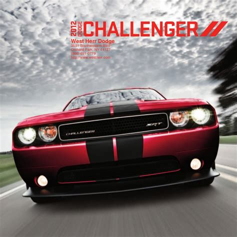 Dodge Dealers In Ny by 2012 Dodge Challenger For Sale Ny Dodge Dealer Near Buffalo