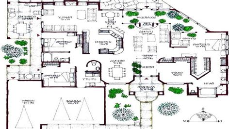 modern mansion floor plans