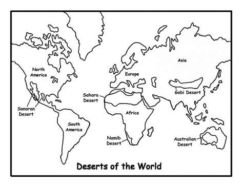 simple world map coloring pages  print
