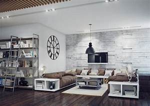Industrial Look Wohnzimmer : apartments charming industrial style living room design ~ Michelbontemps.com Haus und Dekorationen