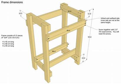 Sander Plans Thickness Drum Diy Woodworking Homemade