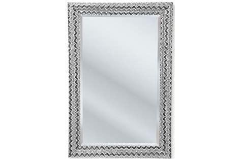 miroir kare design argent 233 mm en bois reva miroir rectangulaire pas cher