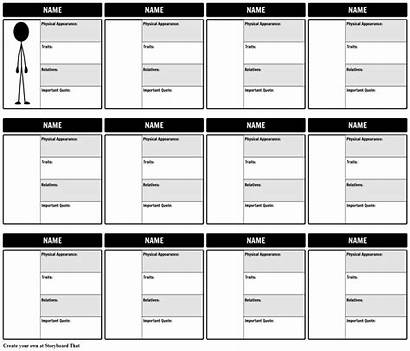 Character Template Map Storyboard Mapping Maps Special