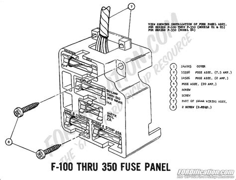 1976 Ford F700 Truck Wiring Diagram by F100 Fuse Box Wiring Diagram
