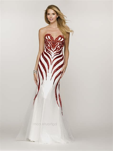Red and white dress Naf Dresses