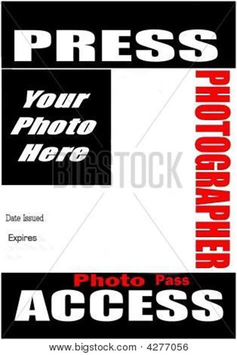 press pass template blank press pass stock photo stock images bigstock