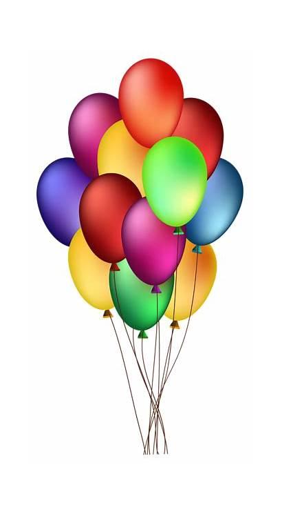 Balloons Clip Clipart Bunch Colorful Birthday Balloon