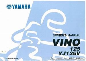 2007 Yamaha Vino Scooter Yj125v Owners Manual