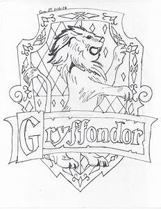 Gryffindor Logo - Free Colouring Pages
