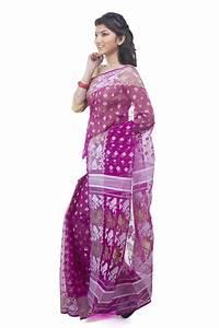 Exclusive Magenta Dhakai Jamdani Saree From Bangladesh