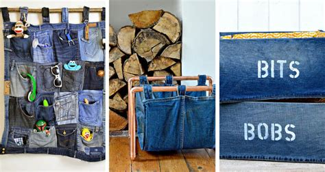 Brilliant Upcycled Denim Storage Ideas  Pillar Box Blue
