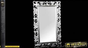 Grand Miroir Rectangulaire : grand miroir rectangulaire baroque argent 148 cm ~ Preciouscoupons.com Idées de Décoration