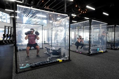 local gym  offering workout pods  covid fearing clients