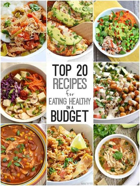top  recipes  eating healthy   budget budget bytes