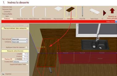 logiciel 3d pour cuisine alinea 3d dressing setup table de lit