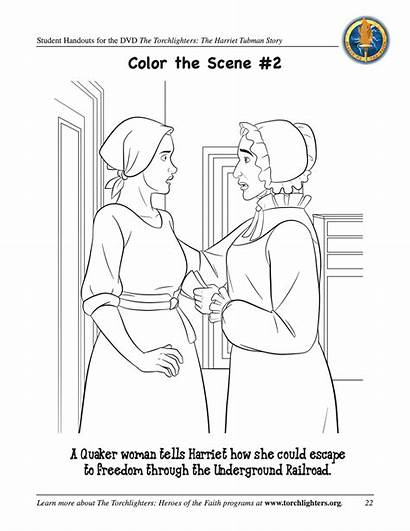 Tubman Harriet Coloring Sheet Activities Torchlighters Template