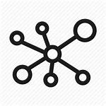 Icon Distribution Spread Dot Link Connection Icons